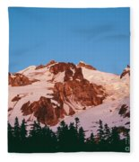 Glacier Peak At Kennedy Ridge Fleece Blanket