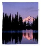 Glacier Peak Sunrise On Image Lake Fleece Blanket