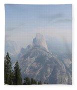Glacier Point Panorama View Fleece Blanket