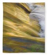 Glacier Stream Glacier National Park Fleece Blanket