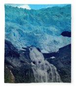 Glacier Waterfall Fleece Blanket