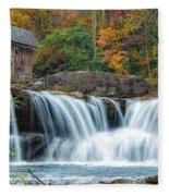 Glade Creek Grist Mill And Waterfalls Fleece Blanket