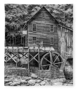 Glade Creek Grist Mill Bw Fleece Blanket