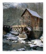 Glade Creek Grist Mill In West Virginia Fleece Blanket