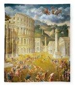 Gladiators Fighting Fleece Blanket