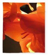 Gladiola Close Up 3 Fleece Blanket