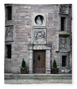 Glamis Castle. Doorway Fleece Blanket