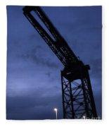 Glasgow Dock Crane 02 Fleece Blanket