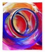 Glass Abstract 592 Fleece Blanket
