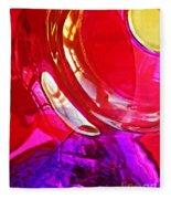 Glass Abstract 607 Fleece Blanket