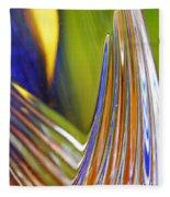 Glass Abstract 743 Fleece Blanket