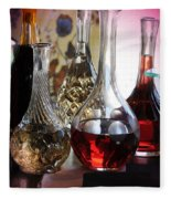 Glass Decanters And Glasses Fleece Blanket