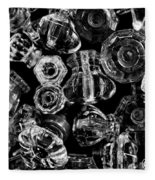 Glass Knobs - Bw Fleece Blanket
