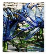 Glass Lilies Fleece Blanket