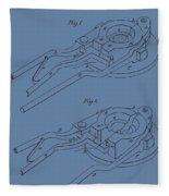 Glass Mold Patent On Blue Fleece Blanket