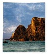 Glass Rocks Fleece Blanket