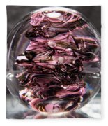Glass Sculpture Black And Pink Rbp Fleece Blanket
