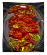 Glass Sculpture - Fire - 13r1 Fleece Blanket