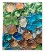 Glass Seashell Fleece Blanket
