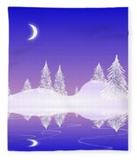 Glass Winter Fleece Blanket