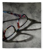 Glasses 1b Fleece Blanket