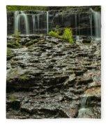 Glassy Rocks At Mohawk Fleece Blanket