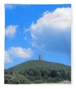 Glastonbury Tor Fleece Blanket