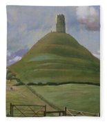 Glastonbury Tor Fleece Blanket