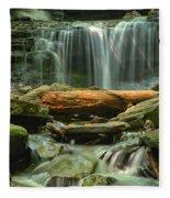 Glen Leigh River Rocks And Falls Fleece Blanket