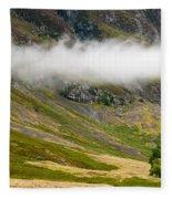 Misty Mountain Landscape Fleece Blanket