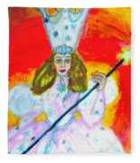 Glenda The Good Witch Of Oz Fleece Blanket