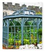Glenveagh Garden Gazebo - Irish Art Fleece Blanket