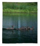 Gliding Across The Water Fleece Blanket