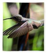 Gliding Hummingbird Fleece Blanket