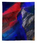 Glitchscape - Liquefaction Fleece Blanket