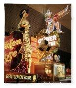 Glitter Gulch In Las Vegas Fleece Blanket