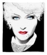 Gloria Swanson - Marlene Dietrich Fleece Blanket
