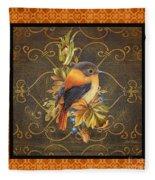 Glorious Birds-a2 Fleece Blanket