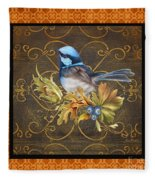 Glorious Birds-b2 Fleece Blanket