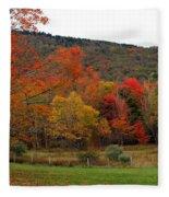 Glorious Fall Leaves Fleece Blanket