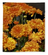 Glorious Golden Mums Fleece Blanket