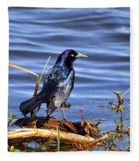 Glorious Grackle Fleece Blanket