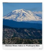 Glorious Mount Adams Fleece Blanket