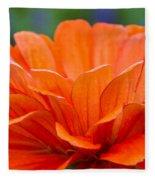Glorious Orange  Fleece Blanket