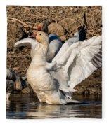 Glorious Snow Goose Fleece Blanket