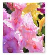 Glorious Summer Gladiolus Fleece Blanket