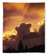 Glorious Sunset Fleece Blanket