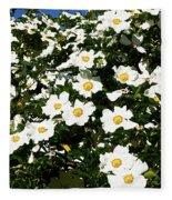 Glorious White Roses Db Fleece Blanket