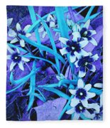 Glory Of The Snow - Violet And Turquoise Fleece Blanket