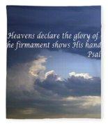 Glory To God   Psalm 10 1 Fleece Blanket